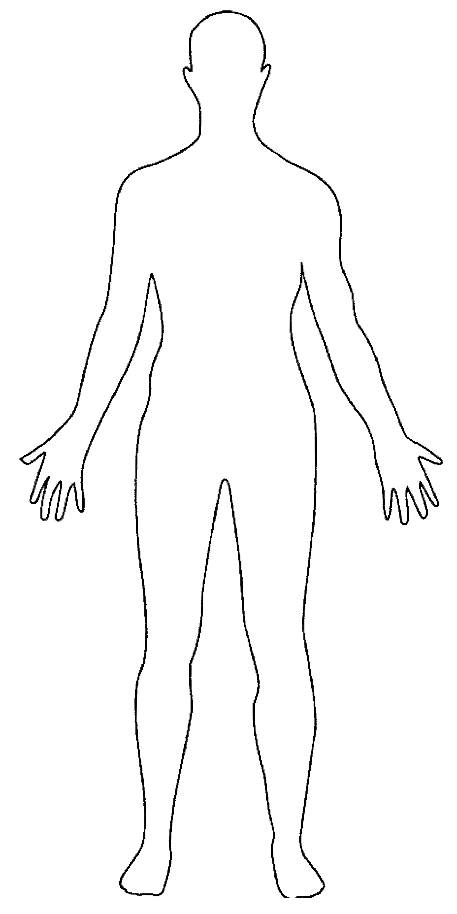 drawing – Anica Lewis Outline Of A Human Body